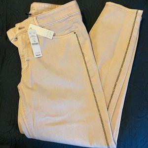 WHBM Cute Lavender Cropped Pants